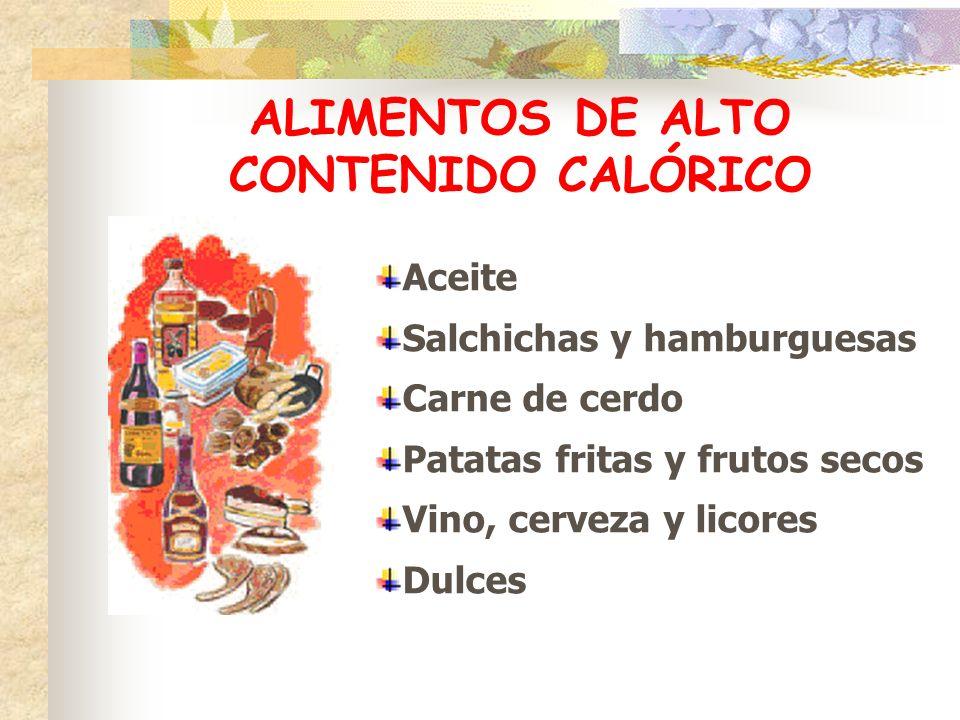 ALIMENTOS DE ALTO CONTENIDO CALÓRICO