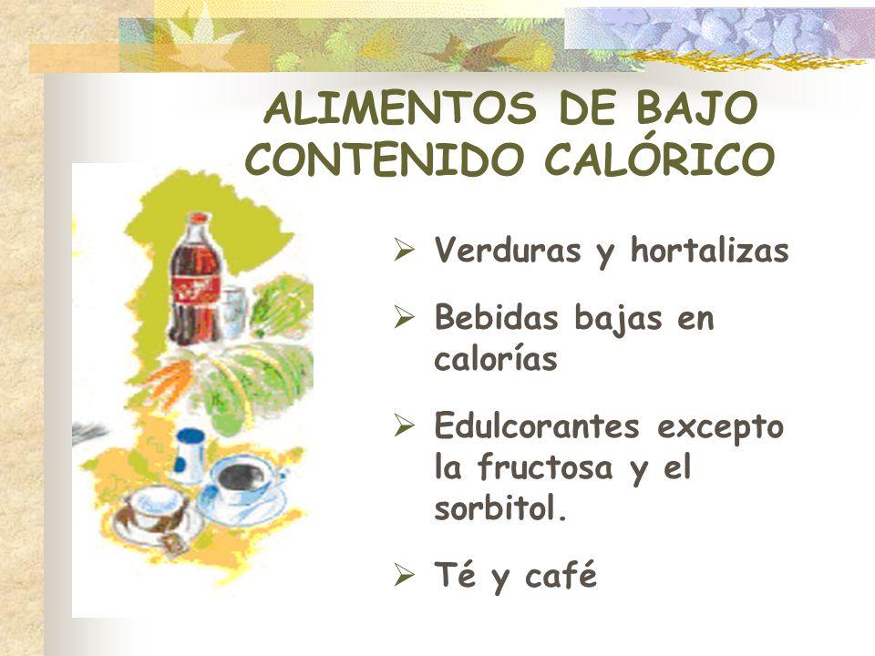ALIMENTOS DE BAJO CONTENIDO CALÓRICO