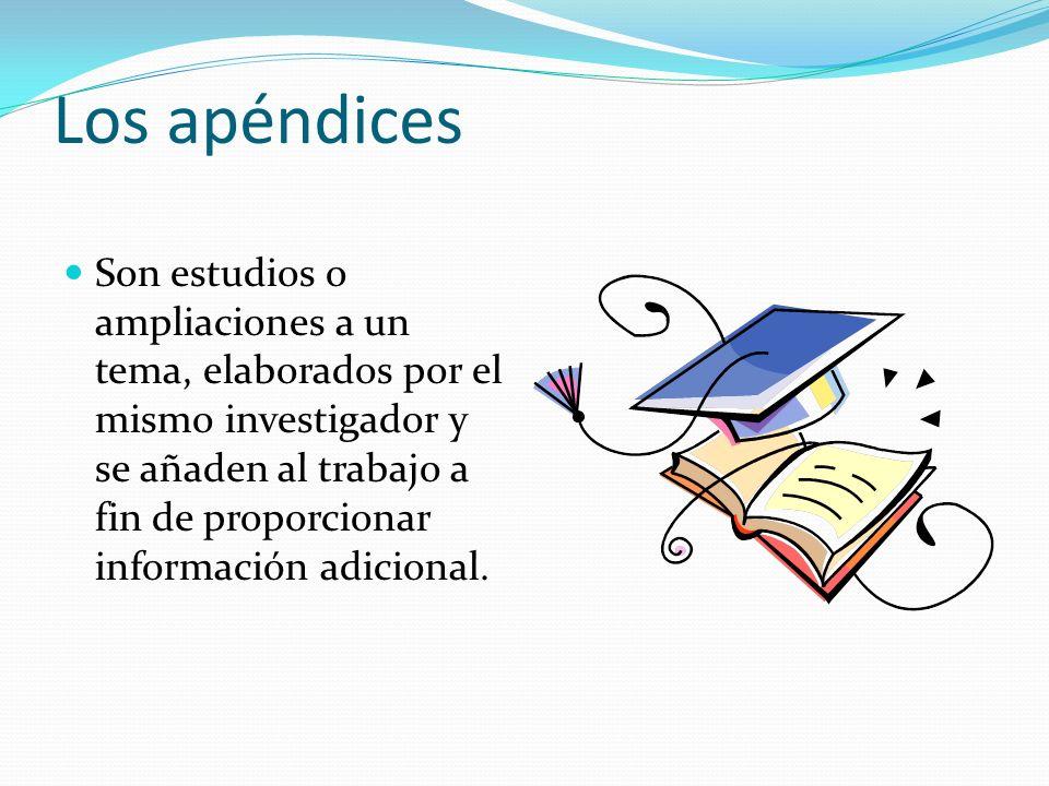 Los apéndices