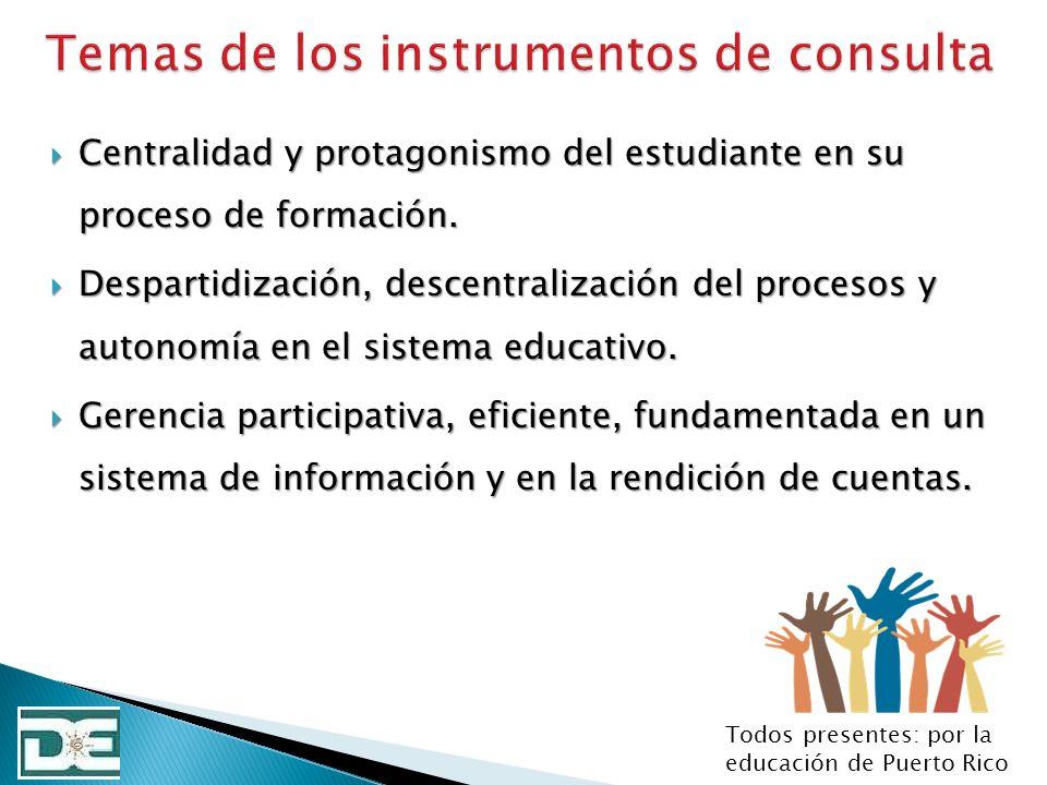 Temas de los instrumentos de consulta