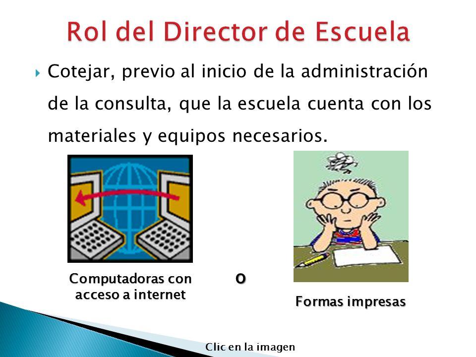 Rol del Director de Escuela