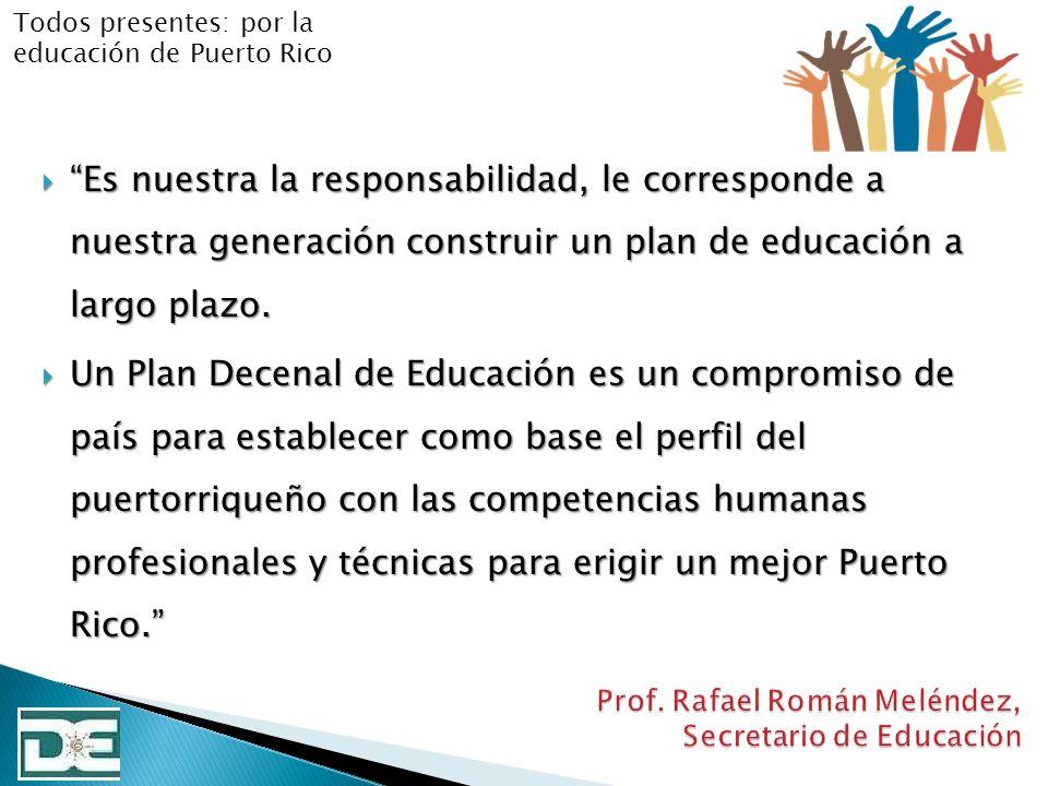 Prof. Rafael Román Meléndez, Secretario de Educación
