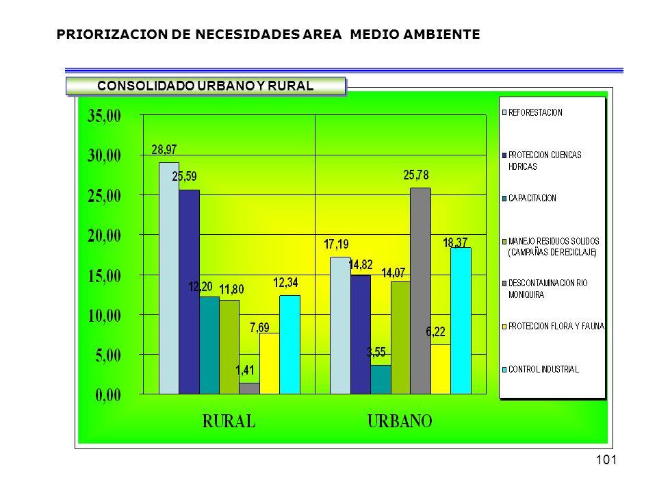 PRIORIZACION DE NECESIDADES AREA MEDIO AMBIENTE