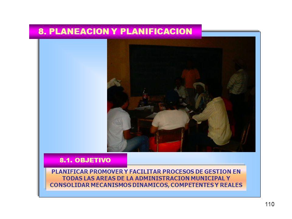 8. PLANEACION Y PLANIFICACION