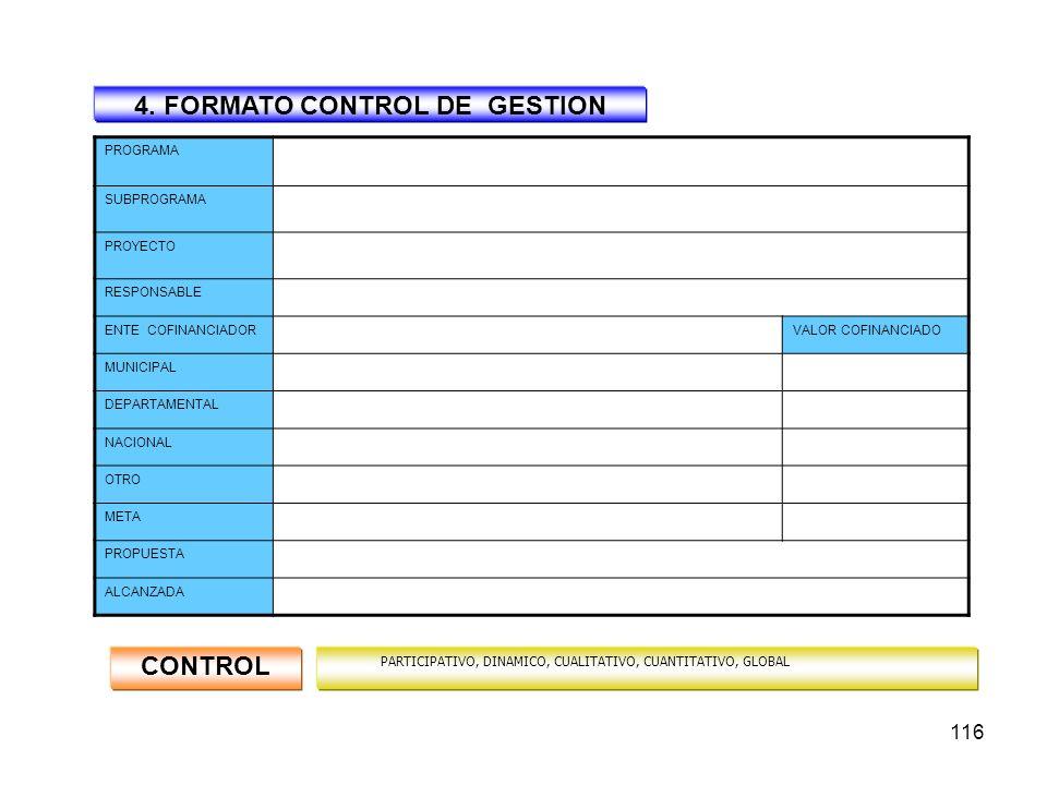4. FORMATO CONTROL DE GESTION