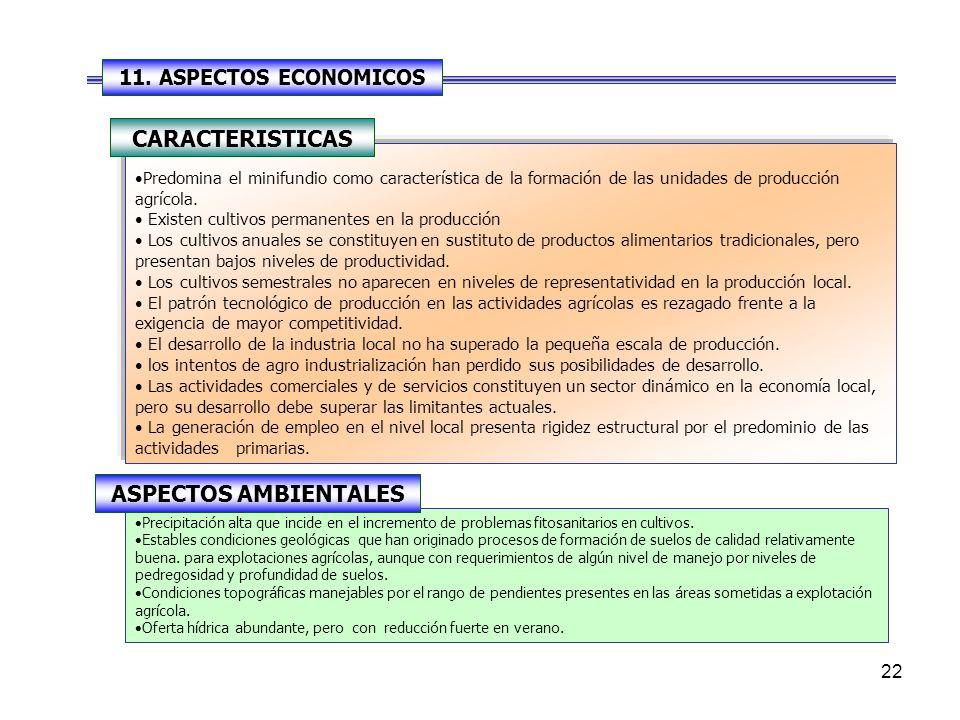 CARACTERISTICAS ASPECTOS AMBIENTALES