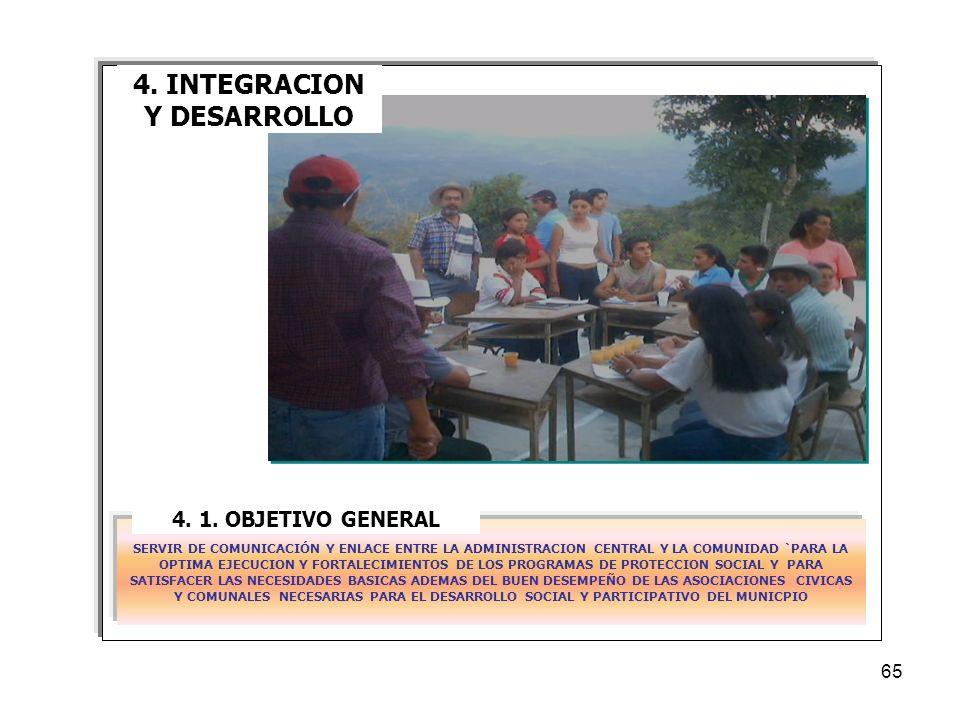 4. INTEGRACION Y DESARROLLO