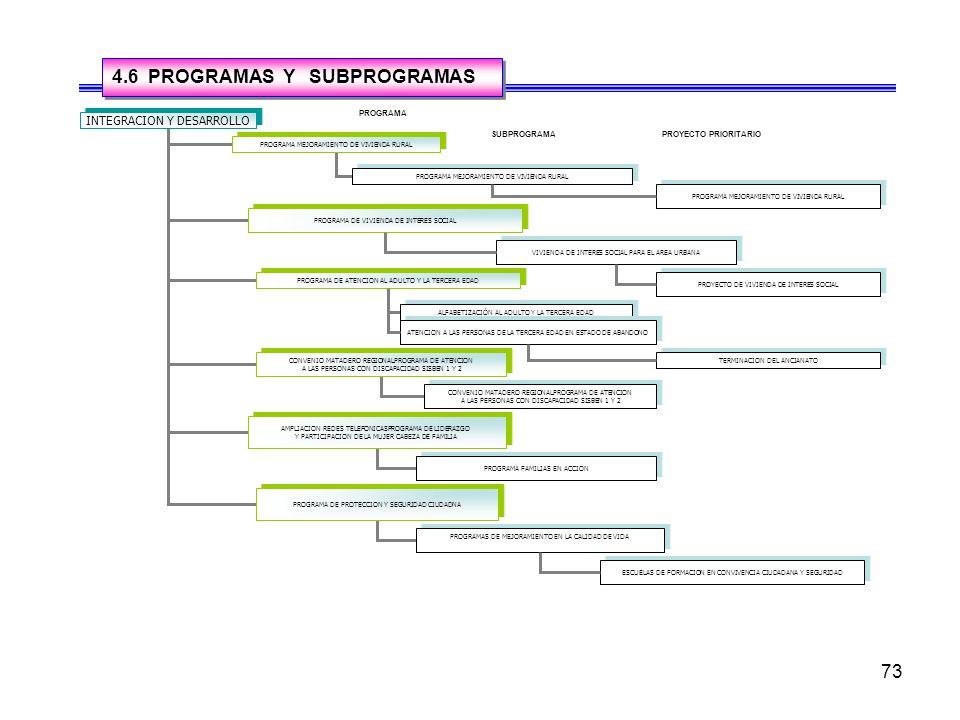 4.6 PROGRAMAS Y SUBPROGRAMAS