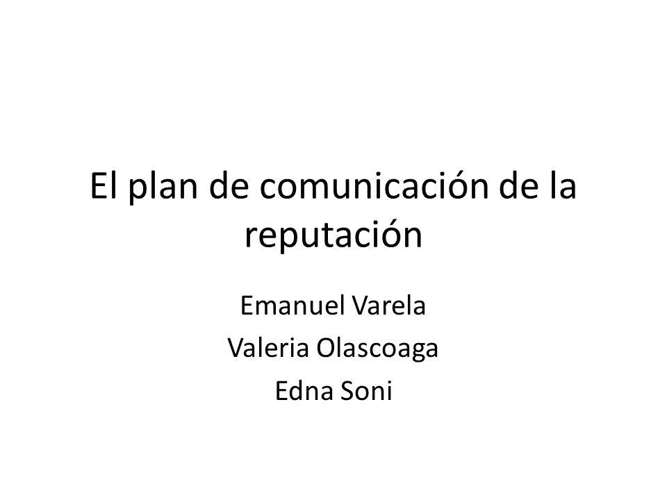 El plan de comunicación de la reputación