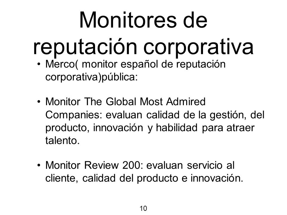 Monitores de reputación corporativa