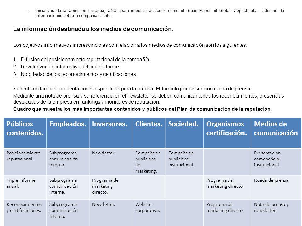 Organismos certificación. Medios de comunicación