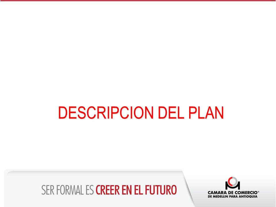 DESCRIPCION DEL PLAN