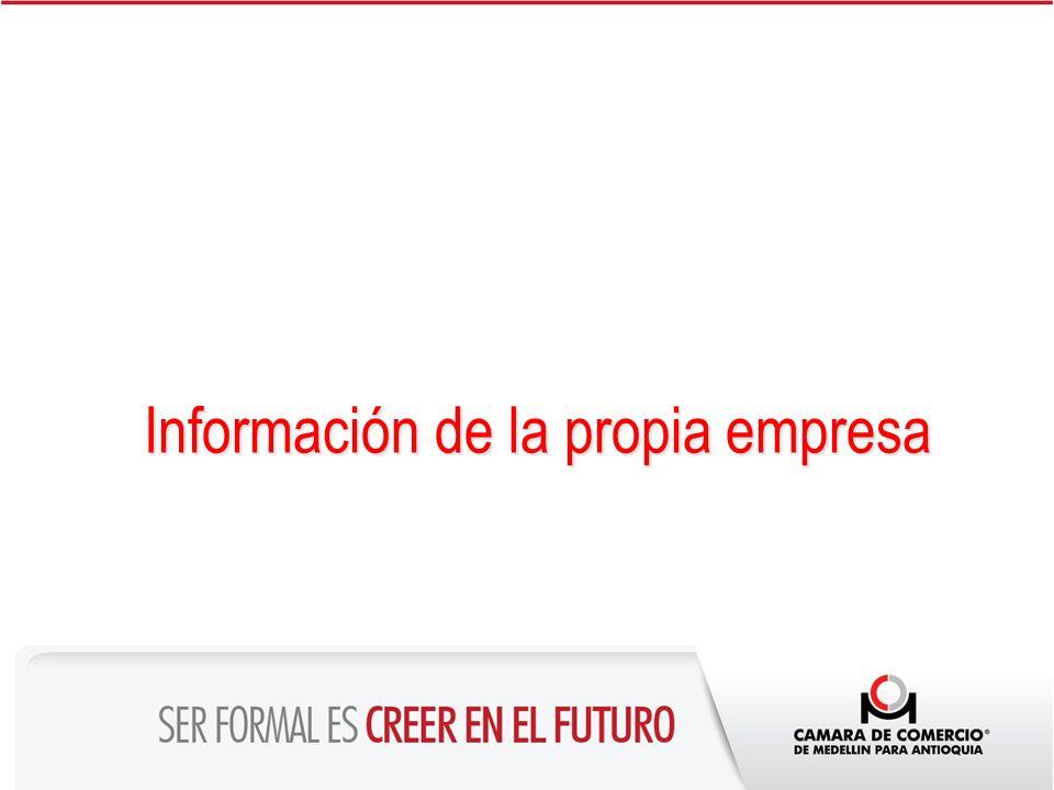 Información de la propia empresa