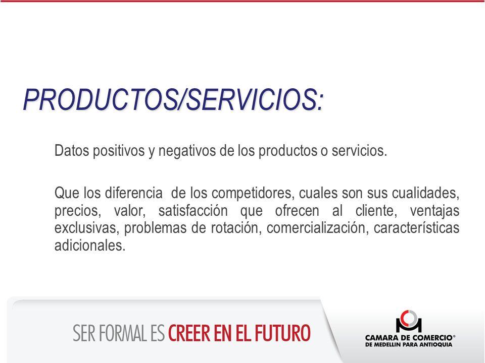 PRODUCTOS/SERVICIOS: