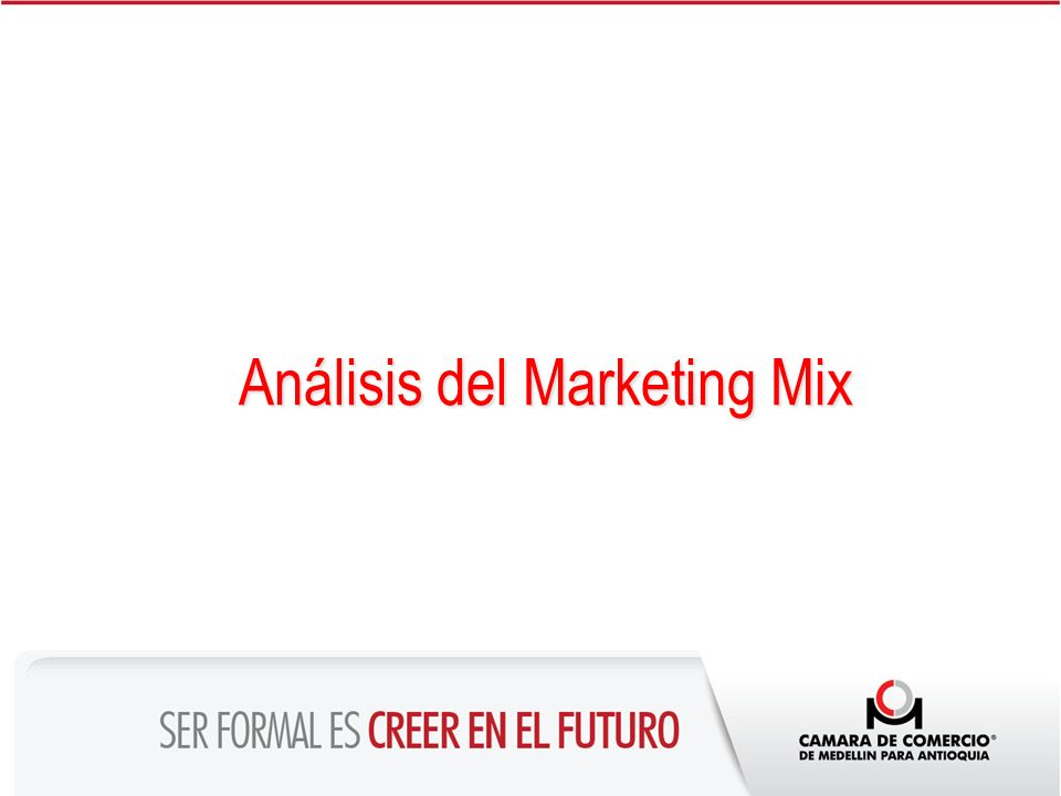 Análisis del Marketing Mix