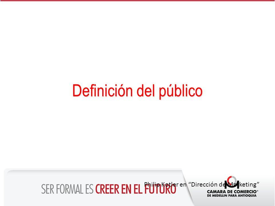 Definición del público