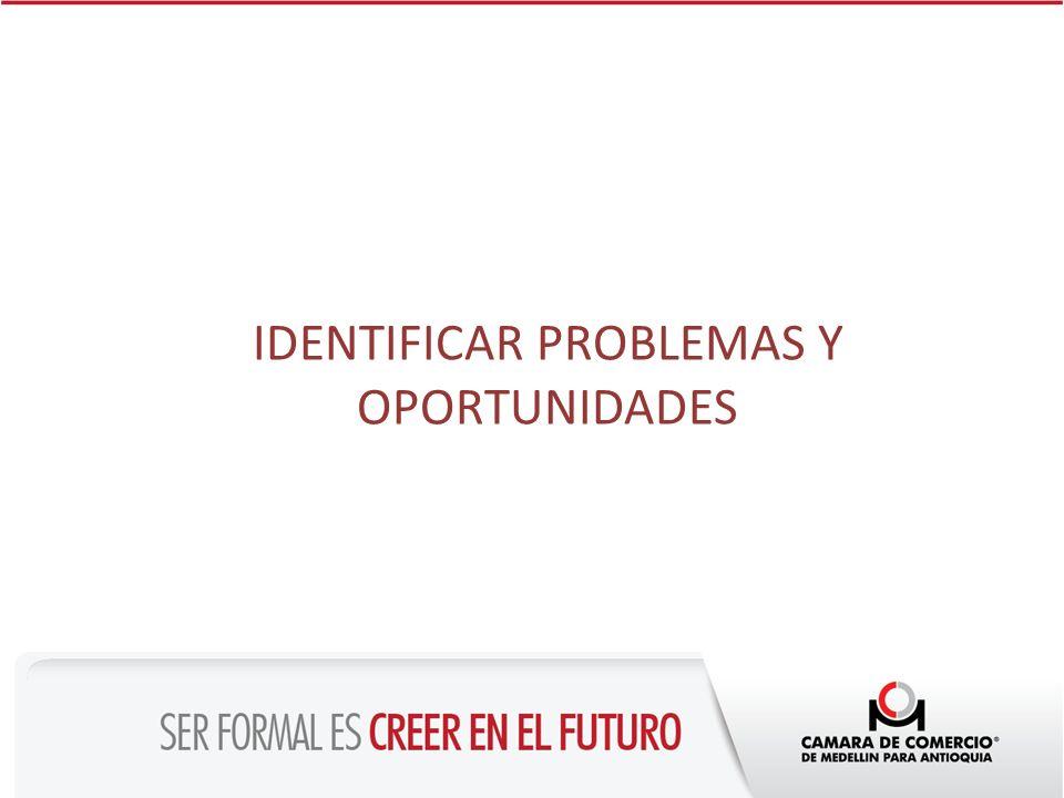 IDENTIFICAR PROBLEMAS Y OPORTUNIDADES