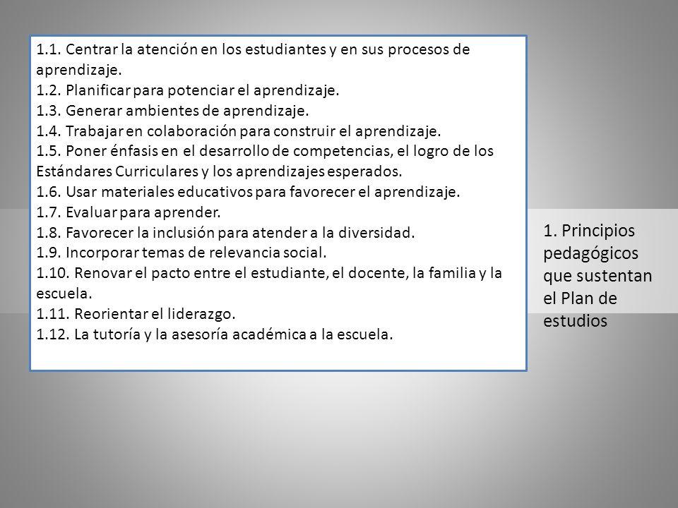 1. Principios pedagógicos que sustentan el Plan de estudios