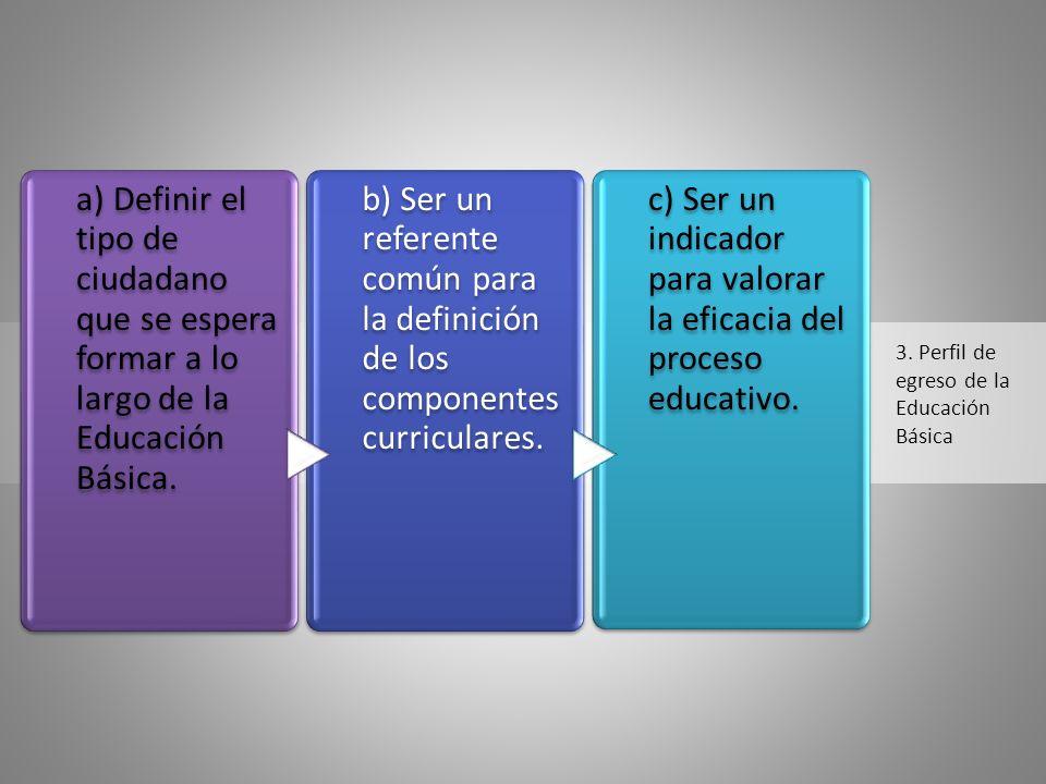 3. Perfil de egreso de la Educación Básica