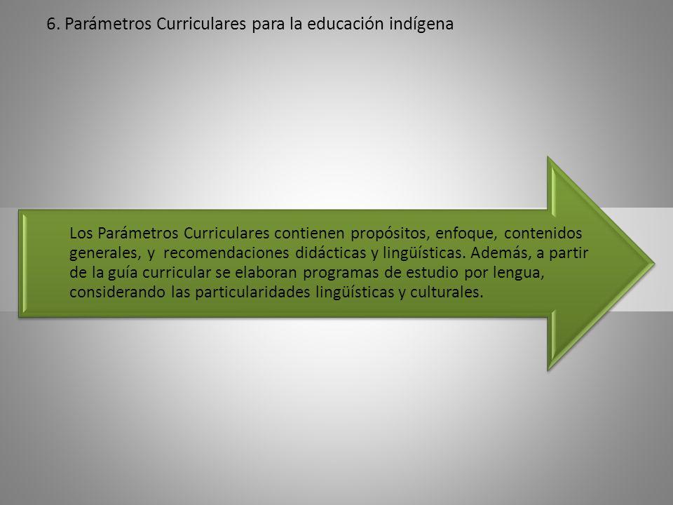 6. Parámetros Curriculares para la educación indígena
