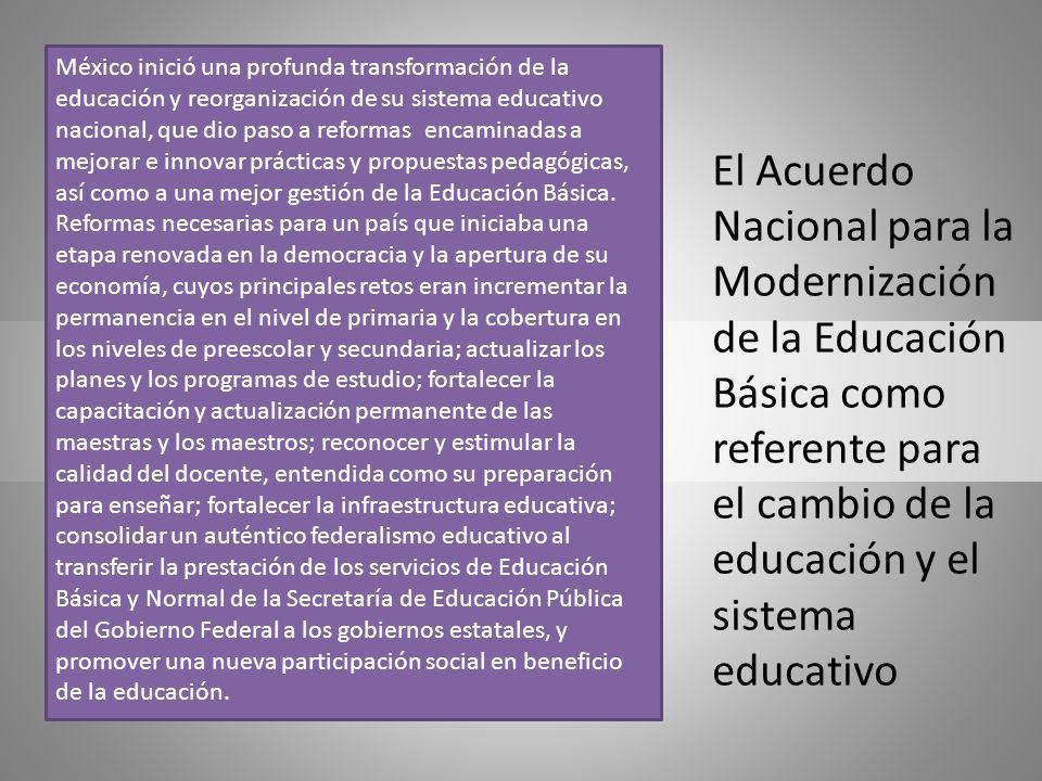 El Acuerdo Nacional para la Modernización