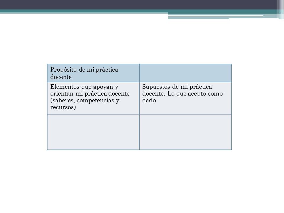 Propósito de mi práctica docente
