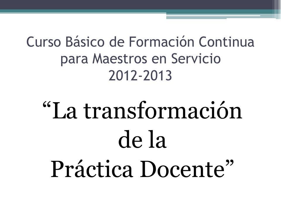 Curso Básico de Formación Continua para Maestros en Servicio 2012-2013