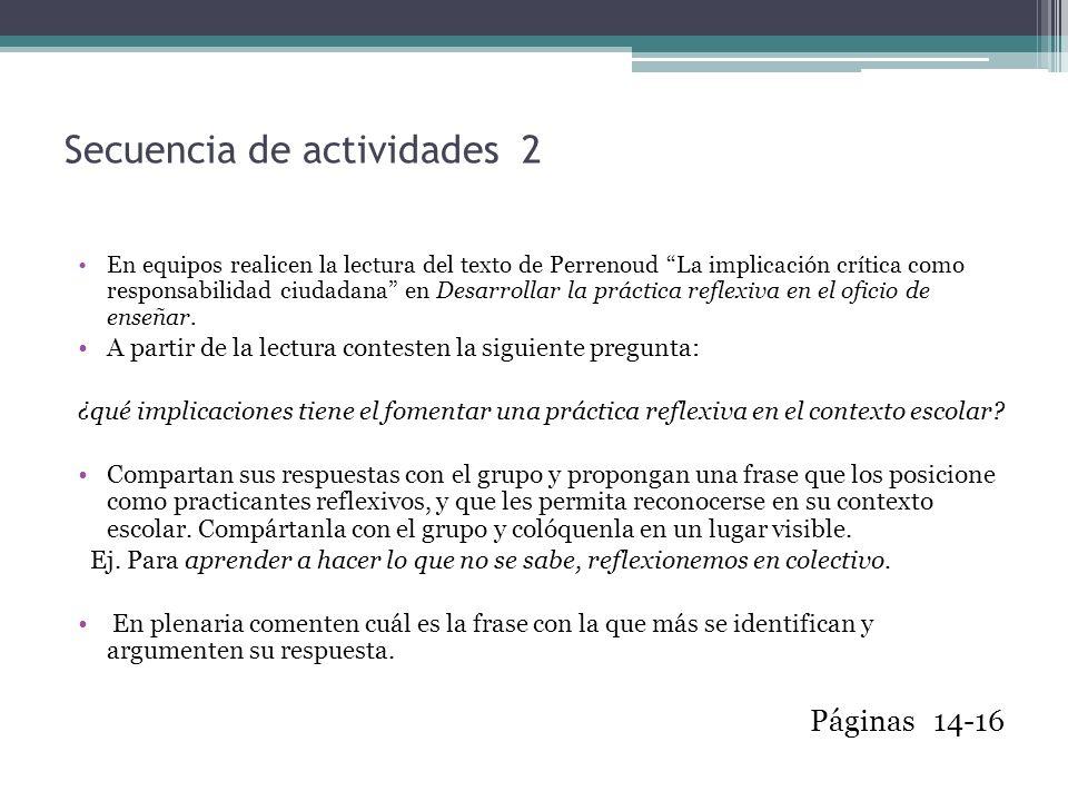 Secuencia de actividades 2