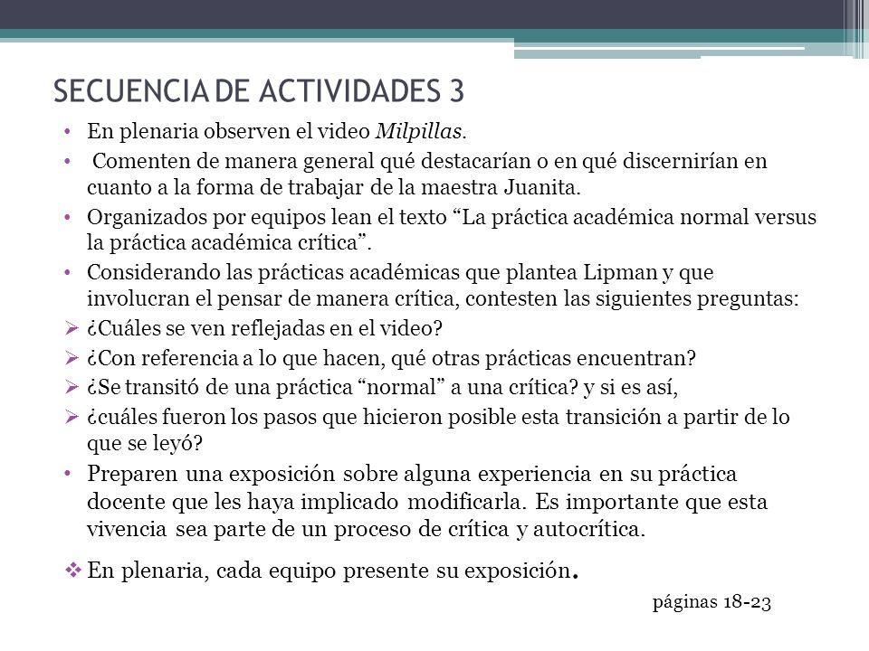 SECUENCIA DE ACTIVIDADES 3