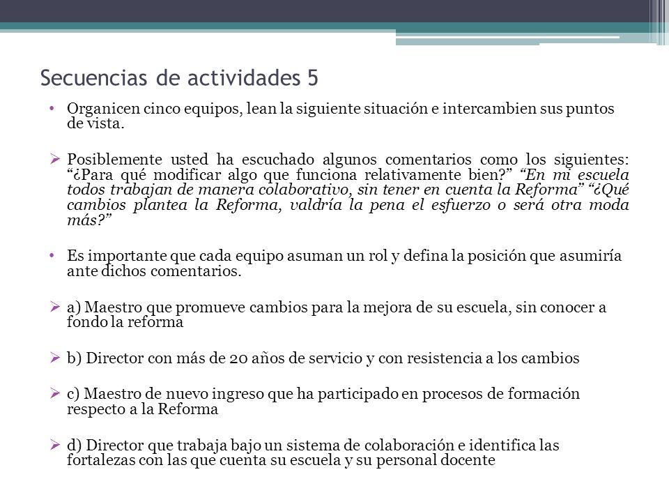 Secuencias de actividades 5