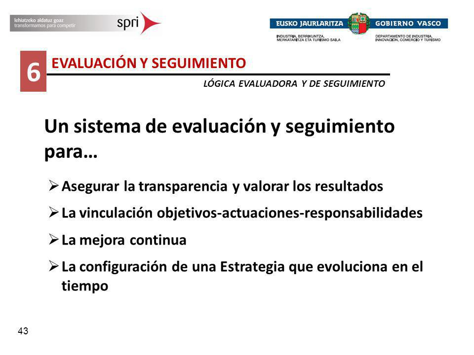 6 Un sistema de evaluación y seguimiento para…