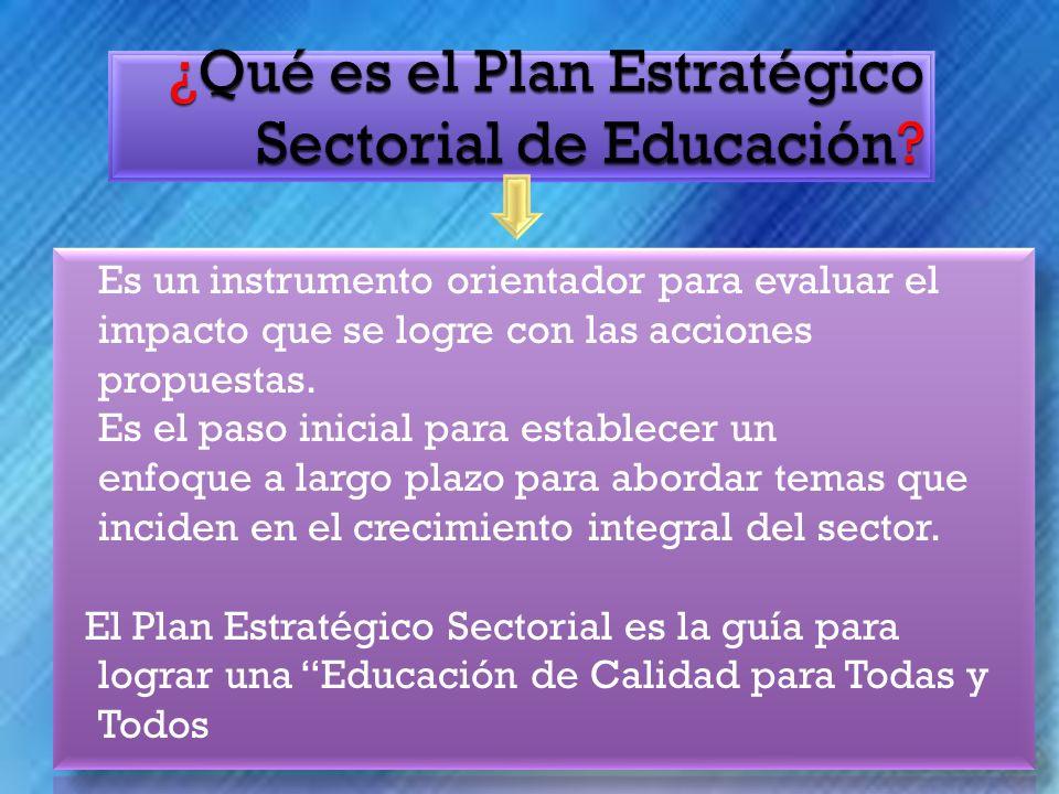¿Qué es el Plan Estratégico Sectorial de Educación