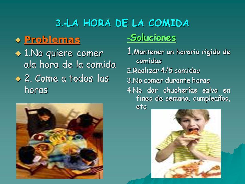 1.Mantener un horario rígido de comidas Problemas