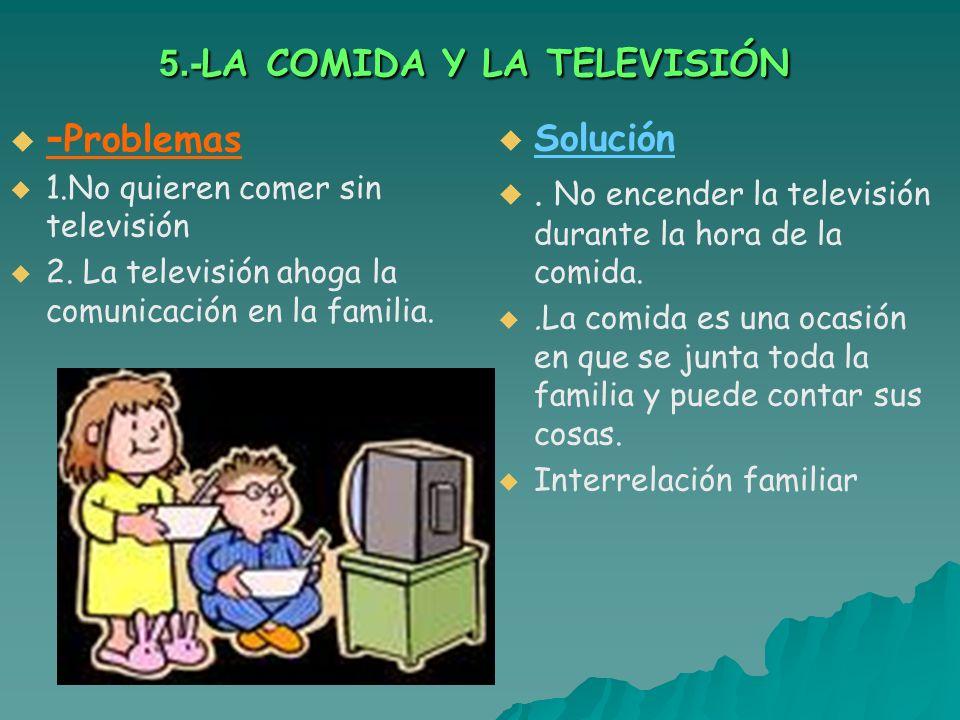 5.-LA COMIDA Y LA TELEVISIÓN