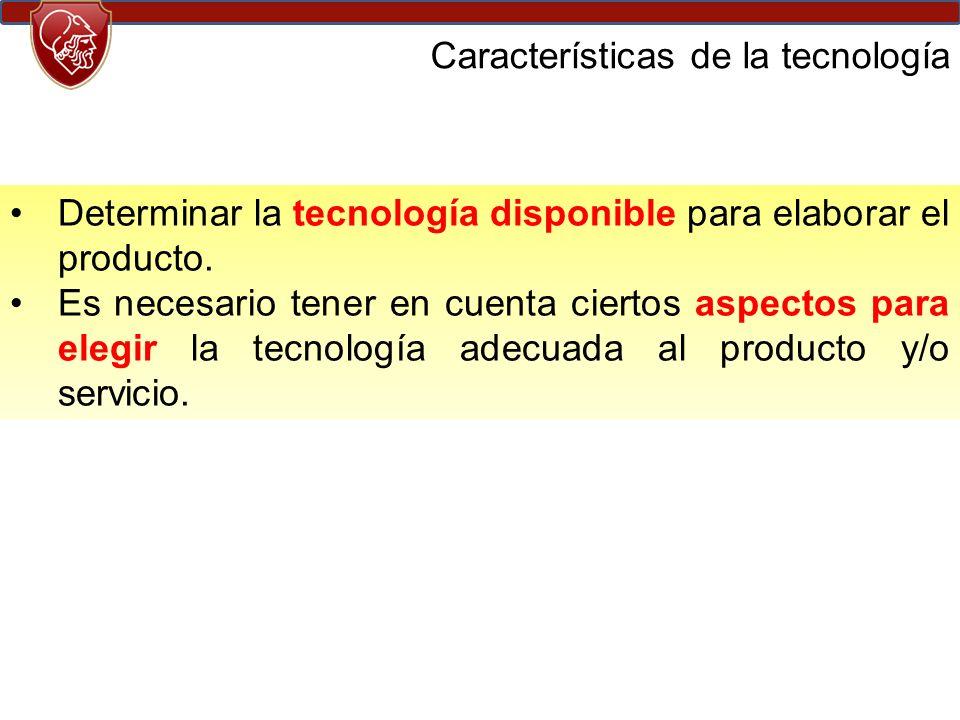 Características de la tecnología