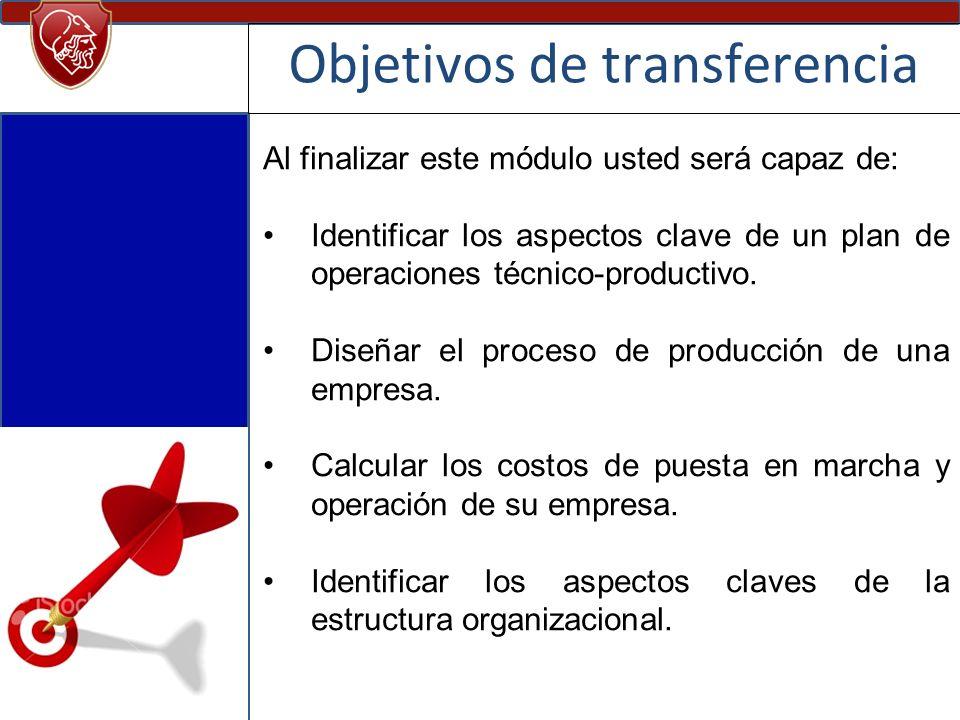 Objetivos de transferencia
