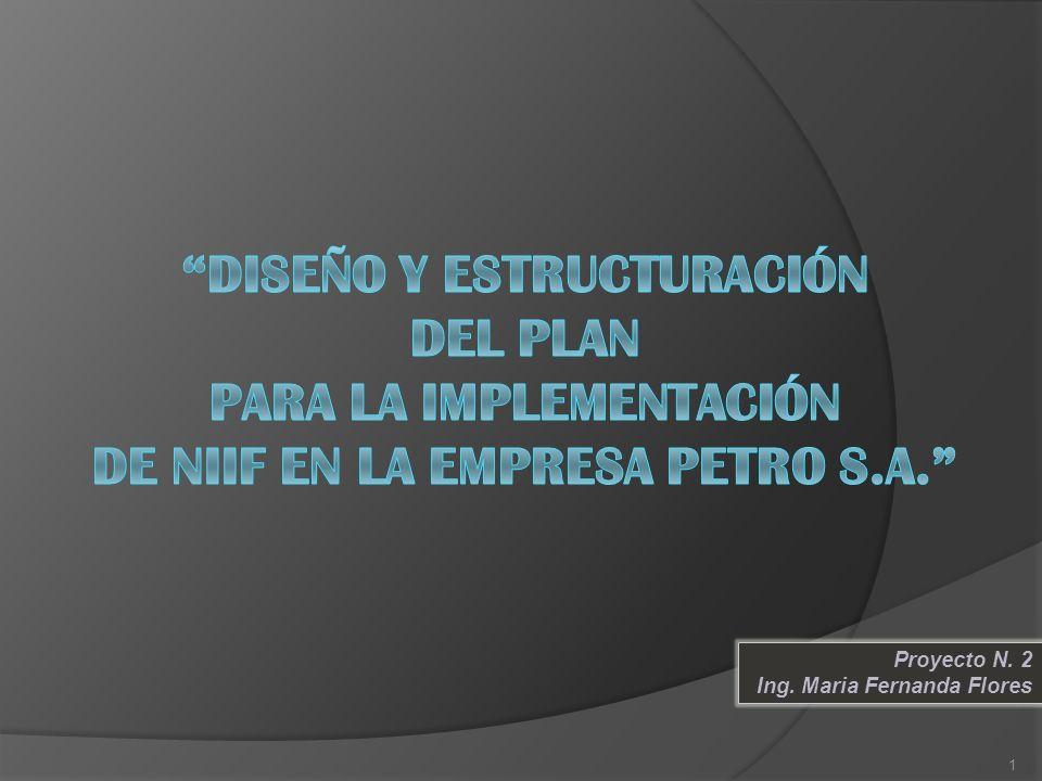 DISEÑO Y ESTRUCTURACIÓN DEL PLAN PARA LA IMPLEMENTACIÓN DE NIIF EN LA EMPRESA PETRO S.A.
