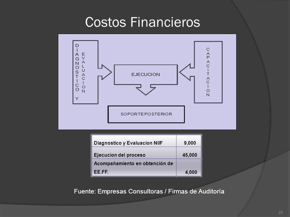 Fuente: Empresas Consultoras / Firmas de Auditoría