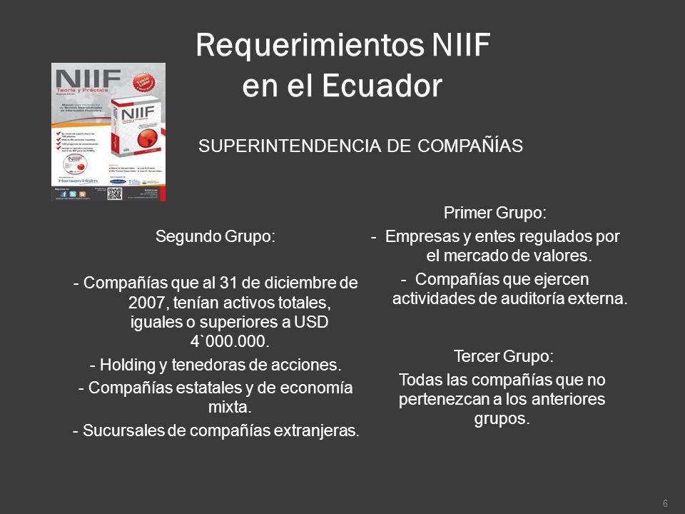 Requerimientos NIIF en el Ecuador