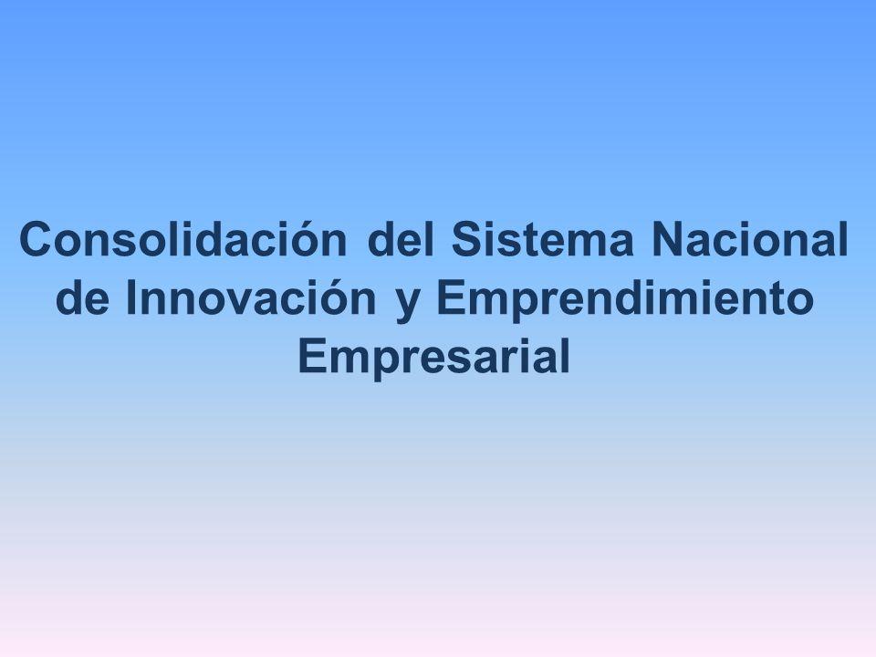 Consolidación del Sistema Nacional de Innovación y Emprendimiento Empresarial