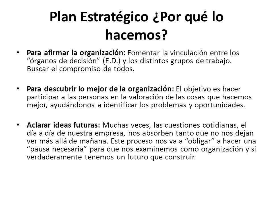 Plan Estratégico ¿Por qué lo hacemos