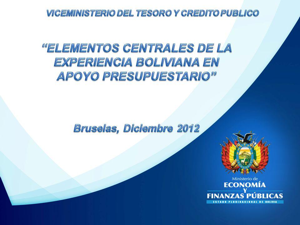 ELEMENTOS CENTRALES DE LA EXPERIENCIA BOLIVIANA EN