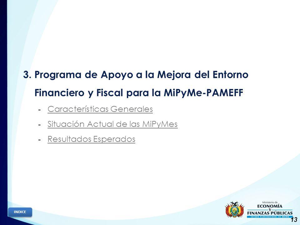 3. Programa de Apoyo a la Mejora del Entorno Financiero y Fiscal para la MiPyMe-PAMEFF