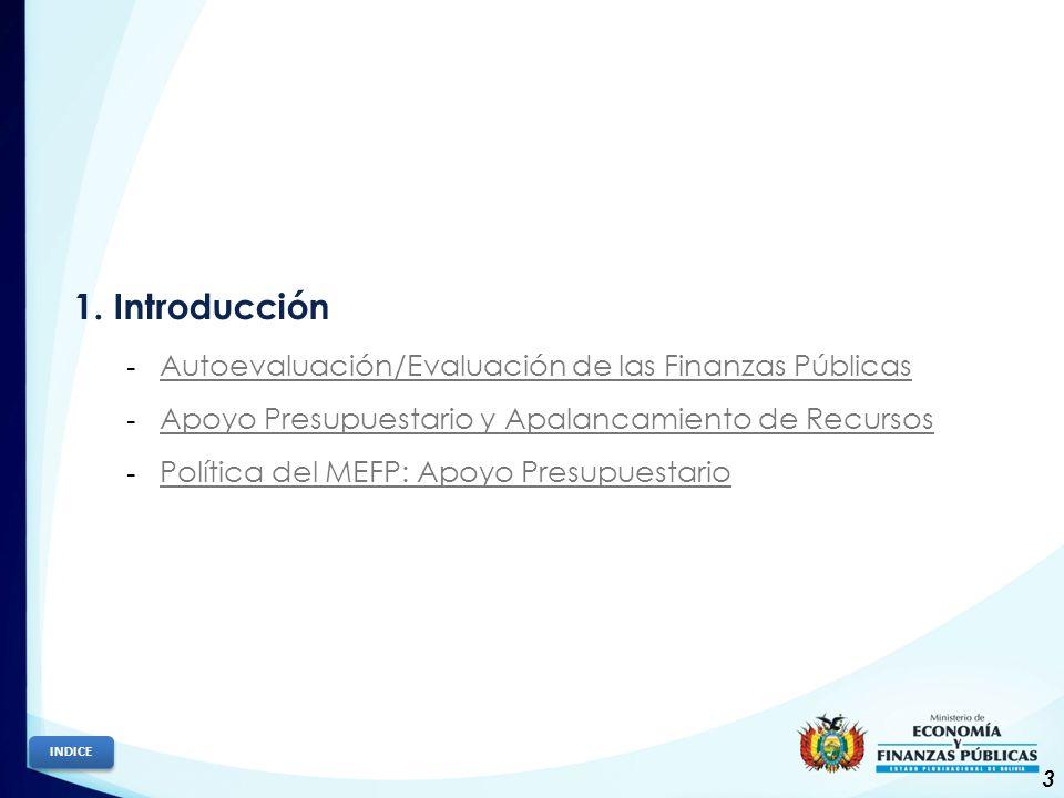 1. Introducción Autoevaluación/Evaluación de las Finanzas Públicas