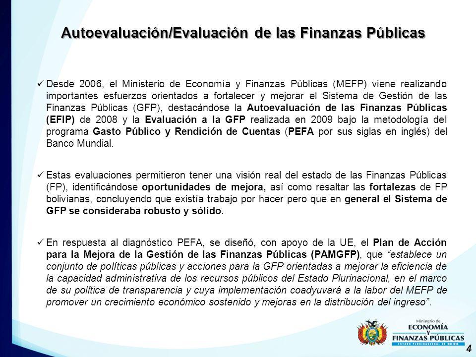 Autoevaluación/Evaluación de las Finanzas Públicas