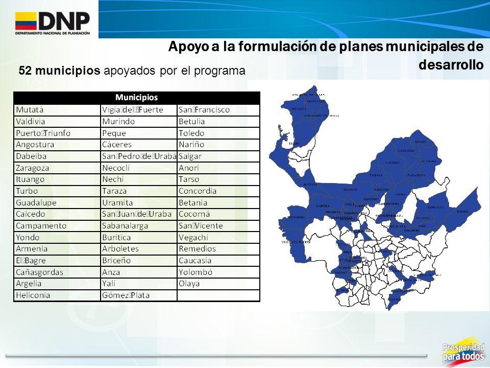 Apoyo a la formulación de planes municipales de desarrollo