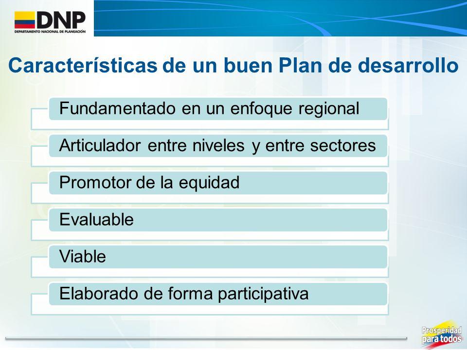 Características de un buen Plan de desarrollo