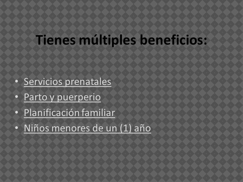 Tienes múltiples beneficios: