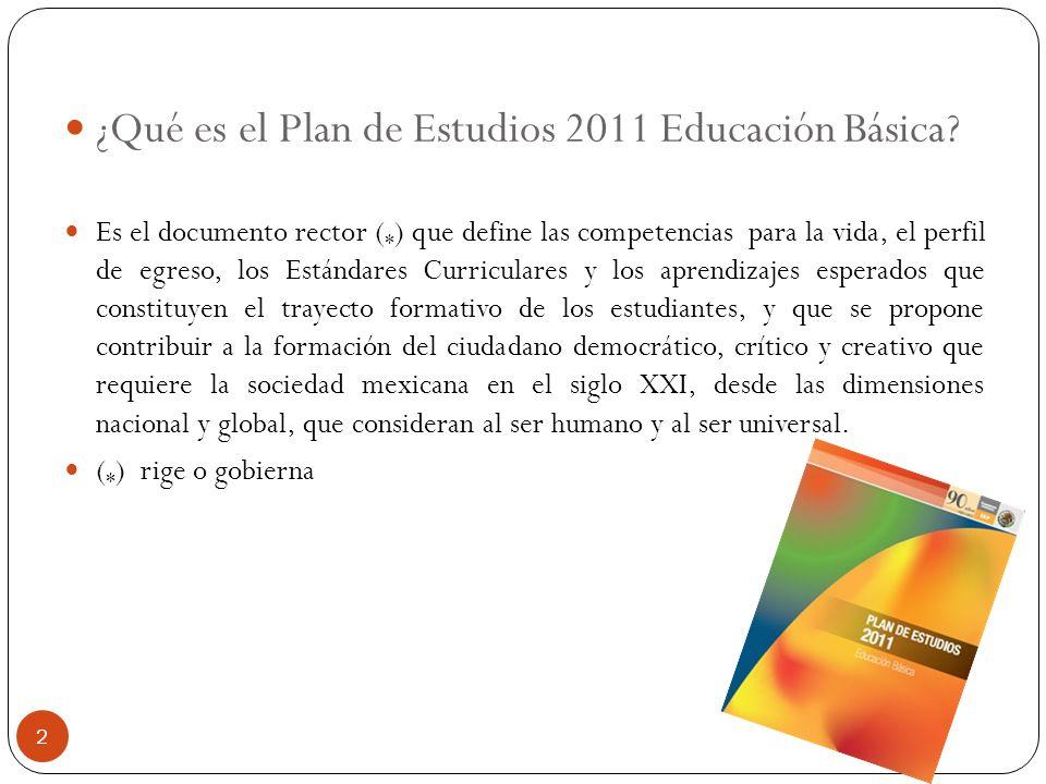 ¿Qué es el Plan de Estudios 2011 Educación Básica