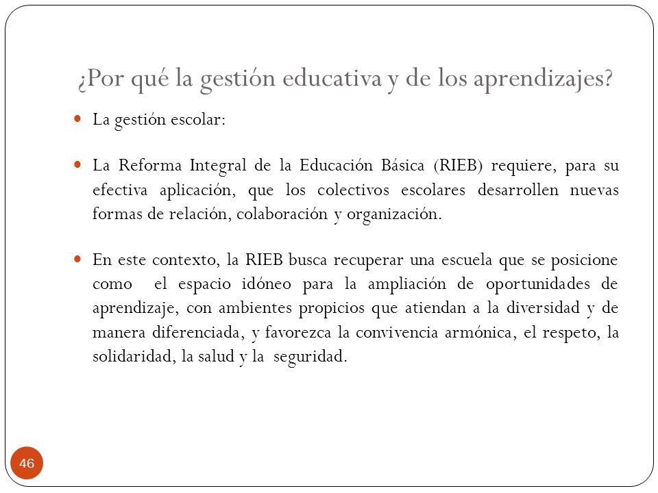 ¿Por qué la gestión educativa y de los aprendizajes